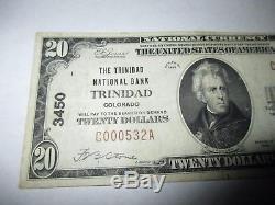 $20 1929 Trinidad Colorado CO National Currency Bank Note Bill Ch. #3450 VF