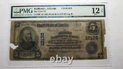 $5 1902 Holbrook Arizona AZ National Currency Bank Note Bill Ch. #12198 PMG F12