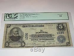 $5 1902 Salem New Jersey NJ National Currency Bank Note Bill! #1326 PCGS Graded