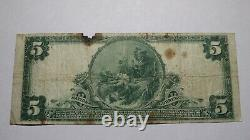 $5 1902 Seneca Falls New York NY National Currency Bank Note Bill Ch. #3329 RARE