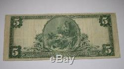 $5 1902 Washington New Jersey NJ National Currency Bank Note Bill Ch. #860 VF