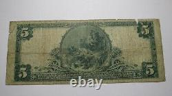 $5 1902 Watkins New York NY National Currency Bank Note Bill! Ch. #9977 Glen