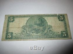 $5 1902 Watkins New York NY National Currency Bank Note Bill! Ch. #9977 RARE