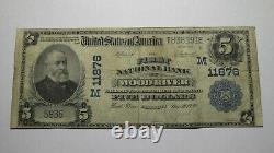 $5 1902 Wood River Illinois IL National Currency Bank Note Bill Ch. #11876 FINE