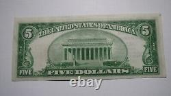 $5 1929 Altus Oklahoma OK National Currency Bank Note Bill! #13756 Uncirculated