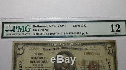 $5 1929 Bellmore New York NY National Currency Bank Note Bill Ch. #11072 PMG F12
