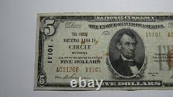 $5 1929 Circle Montana MT National Currency Bank Note Bill Charter #11101 RARE