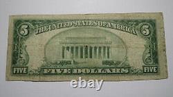 $5 1929 Dawson Texas TX National Currency Bank Note Bill Ch. #10694 FINE