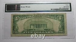 $5 1929 Glens Falls New York NY National Currency Bank Note Bill Ch #980 F15 PMG