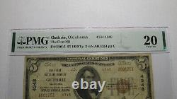 $5 1929 Guthrie Oklahoma OK National Currency Bank Note Bill Ch. #4348 VF20 PMG