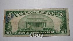 $5 1929 Kinderhook New York NY National Currency Bank Note Bill! Ch. #929 RARE
