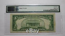 $5 1929 Kingsville Texas TX National Currency Bank Note Bill! Ch. #12968 VF PMG