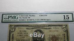 $5 1929 Lakeland Florida FL National Currency Bank Note Bill! Ch #13370 FINE PMG