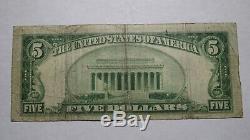 $5 1929 Latrobe Pennsylvania PA National Currency Bank Note Bill Ch. #13700 RARE