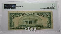 $5 1929 Marianna Florida FL National Currency Bank Note Bill Ch #6110 VF20 PMG