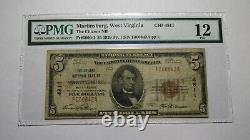 $5 1929 Martinsburg West Virginia WV National Currency Bank Note Bill! #4811 F12