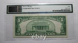 $5 1929 New Paltz New York NY National Currency Bank Note Bill! Serial Number 2