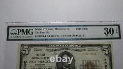 $5 1929 New Prague Minnesota MN National Currency Bank Note Bill! #7092 VF30 EPQ