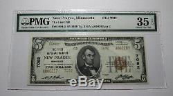 $5 1929 New Prague Minnesota MN National Currency Bank Note Bill! #7092 VF35 PMG