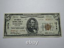 $5 1929 Oakland Maryland MD National Currency Bank Note Bill Ch. #13776 XF++++