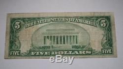 $5 1929 Pontiac Michigan MI National Currency Bank Note Bill Ch. #12288 FINE