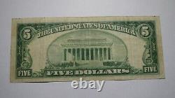 $5 1929 Spartanburg South Carolina SC National Currency Bank Note Bill! Ch #4996