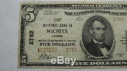 $5 1929 Wichita Kansas KS National Currency Bank Note Bill! Ch. #2782 FINE