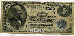 $5 National Currency First National Bank of Catonsville MD