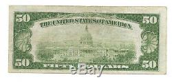 $50. 1929 LOS ANGELES CALIF National Currency Bank Note Bill Ch. #2491