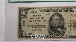 $50 1929 New Philadelphia Ohio OH National Currency Bank Note Bill Ch. #1999 F15