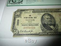 $50 1929 Taylor Texas TX National Currency Bank Note Bill Ch. #3859 PCGS FINE