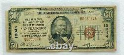 $50 Nat'l Currency Bank of America National Trust & Savings San Francisco #13044