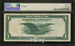 LARGE 1918 $1 DOLLAR BILL GREEN EAGLE FR BANK NOTE NATIONAL CURRENCY Fr 717 PMG