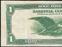 LARGE 1918 $1 DOLLAR SAN FRANCISCO BANK NOTE NATIONAL CURRENCY BETTER Fr 744