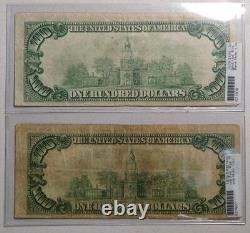 Lot of 4 National Currency, Bank Notes, $20/$50/$100 Denominations 0125-03