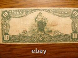 National Currency $10- Exchange National Bank of Tampa Florida Charter 4949