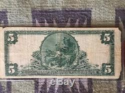 Rare 1917 5 Dollar National Currency Wells Fargo National Bank Note