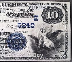 Series 1882 $10.00 Nat'l Currency, The Oil City National Bank, Oil City, PA