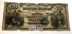 Series 1882 Twenty Dollar National Currency Northrup National Bank Kansas