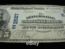 Series 1902 National Currency $5 Sellersville (pennsylvania) National Bank