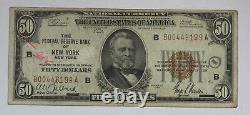 Series of 1929 $50 Federal Reserve Bank of New York National Currency Note 18NZ