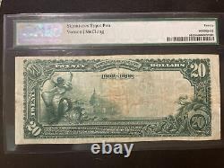 Starbuck, Minnesota 1902 $20 First National Bank FR#645 PMG 20 currency note