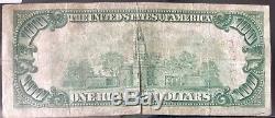 USA 100 Dollar 1929 National Currency $100 Richmond VA Selten Banknote #15836