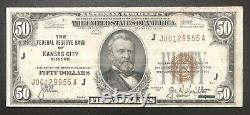 USA 50 Dollar 1929 Banknote National Currency Note Schein #32601