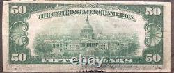USA 50 Dollar 1929 National Currency $50 Cleveland Selten Banknote #11926
