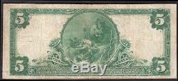 USA National Currency. North Ward National Bank Newark. 5 dollars. Series 19