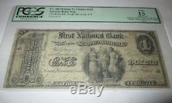 1 1865 South Norwalk Connecticut Ct Banque Nationale Monnaie $ Remarque Le Projet De Loi # 502 Ace