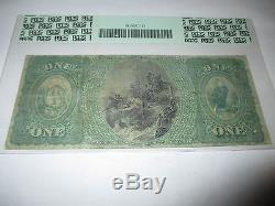 1 $ 1865 South Norwalk Connecticut Ct Note De La Banque Nationale Note N ° 502 Ace