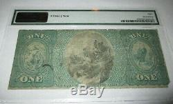 1 1875 $ Taunton Massachusetts Ma Banque Nationale Monnaie Note Bill # 766 Ace