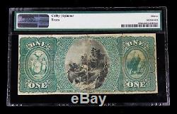 $ 1 Monnaie Nationale Note Seventh Ward Bank New York Ch # 998 Pmg 15
